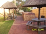 The Northern side braai (barbeque) area